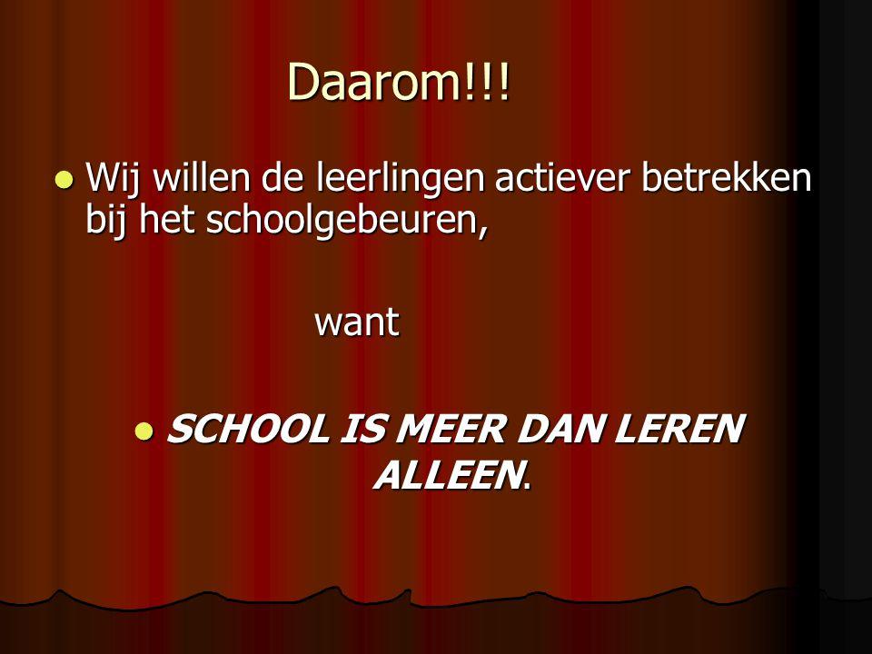 SCHOOL IS MEER DAN LEREN ALLEEN.
