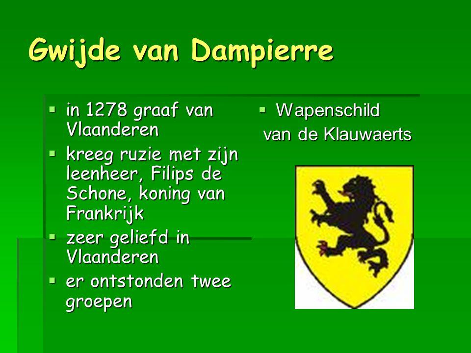 Gwijde van Dampierre in 1278 graaf van Vlaanderen