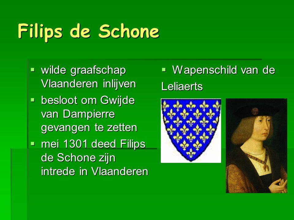 Filips de Schone wilde graafschap Vlaanderen inlijven
