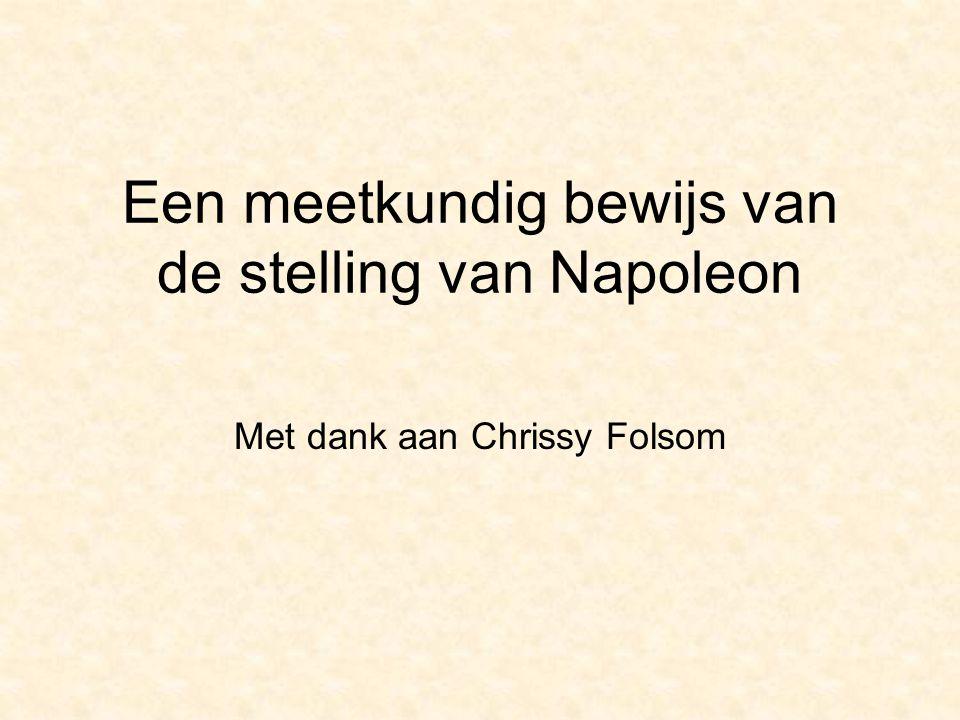 Een meetkundig bewijs van de stelling van Napoleon