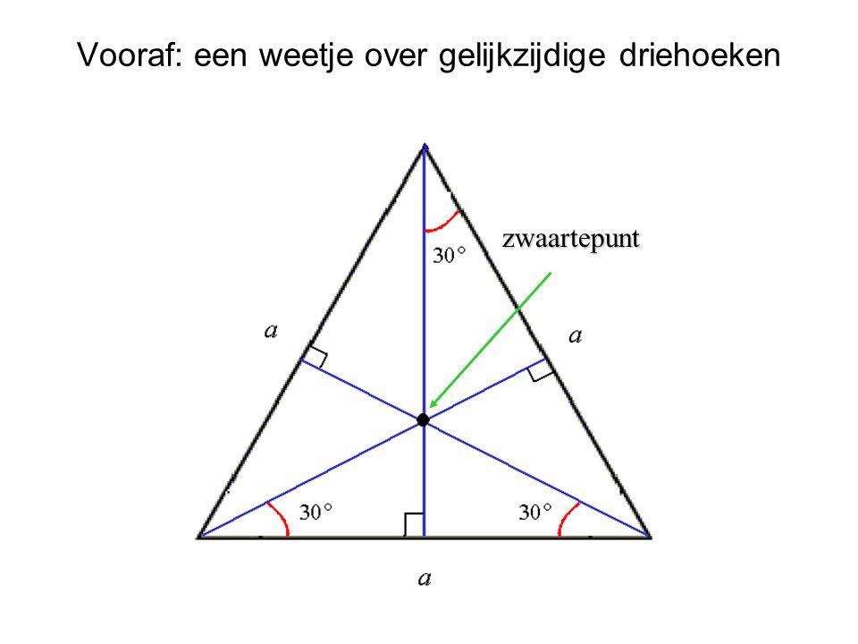 Vooraf: een weetje over gelijkzijdige driehoeken