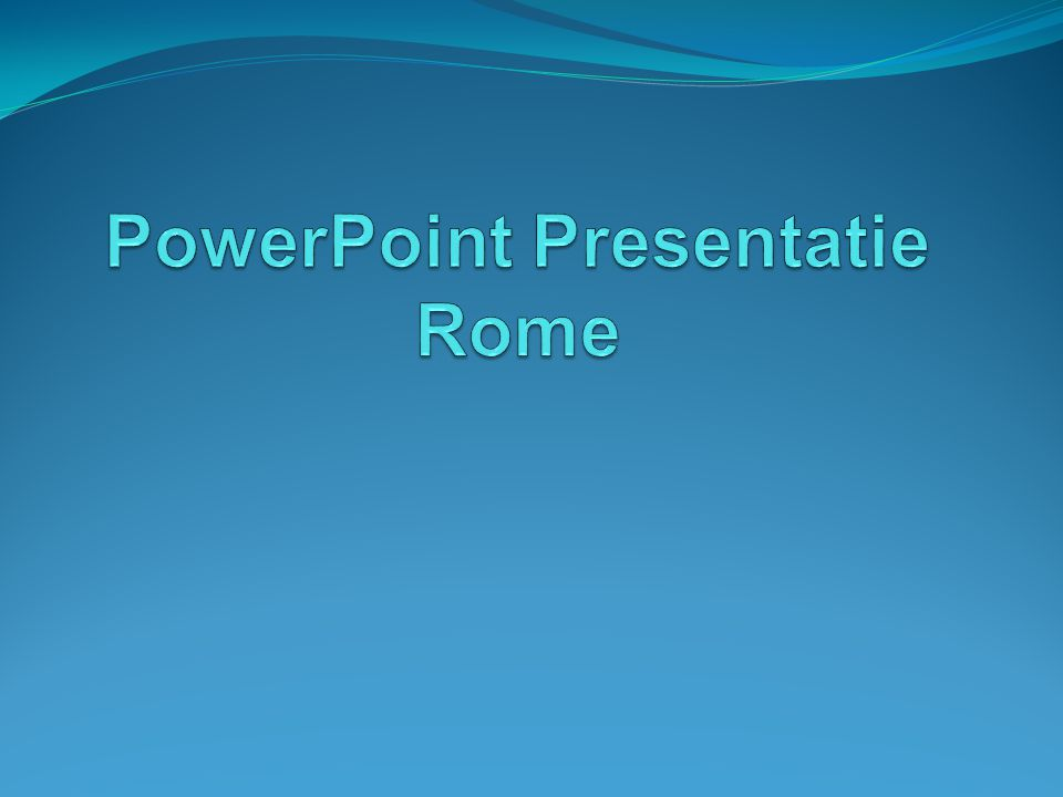 PowerPoint Presentatie Rome