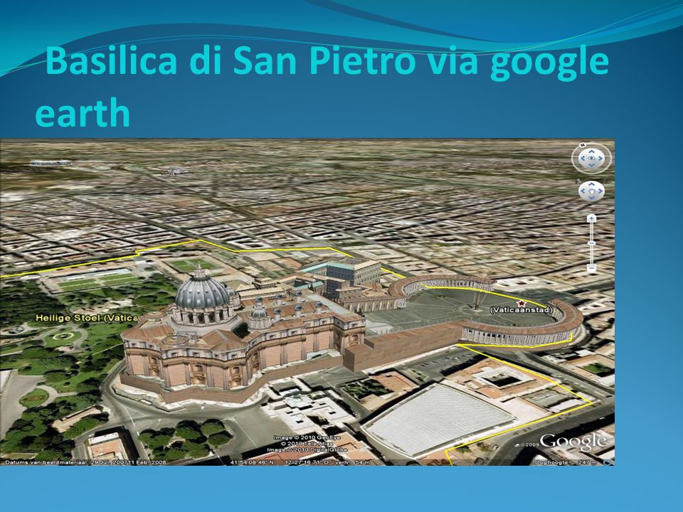 Basilica di San Pietro via google earth