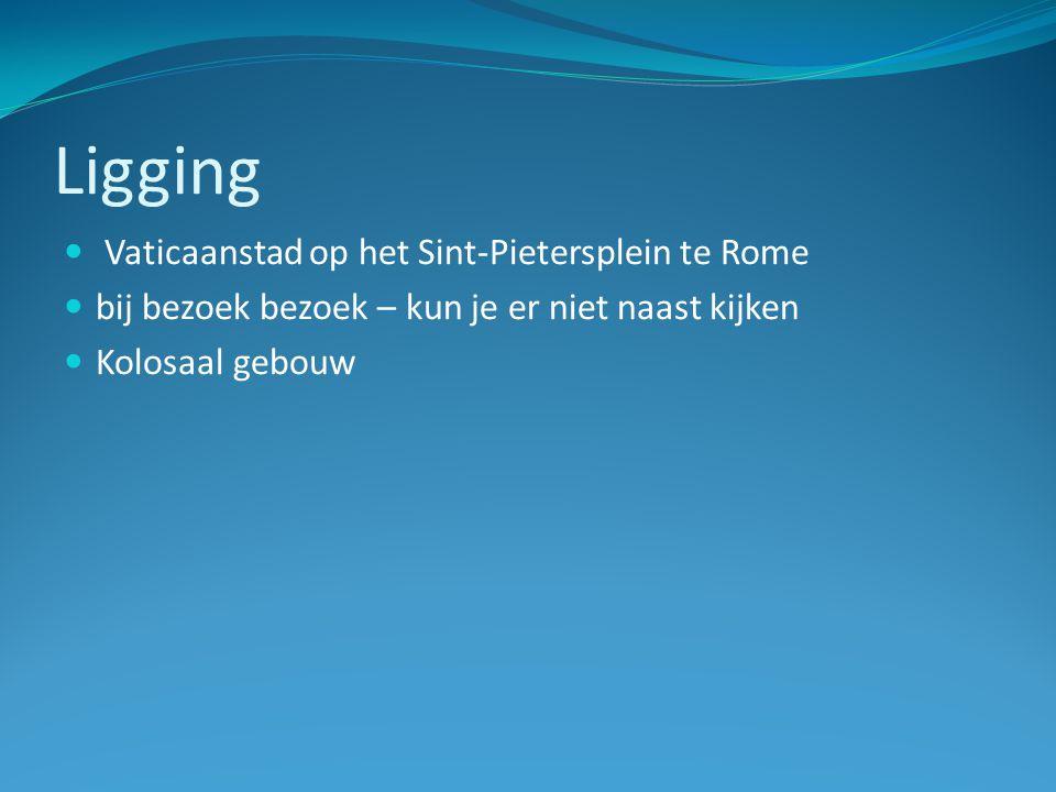 Ligging Vaticaanstad op het Sint-Pietersplein te Rome