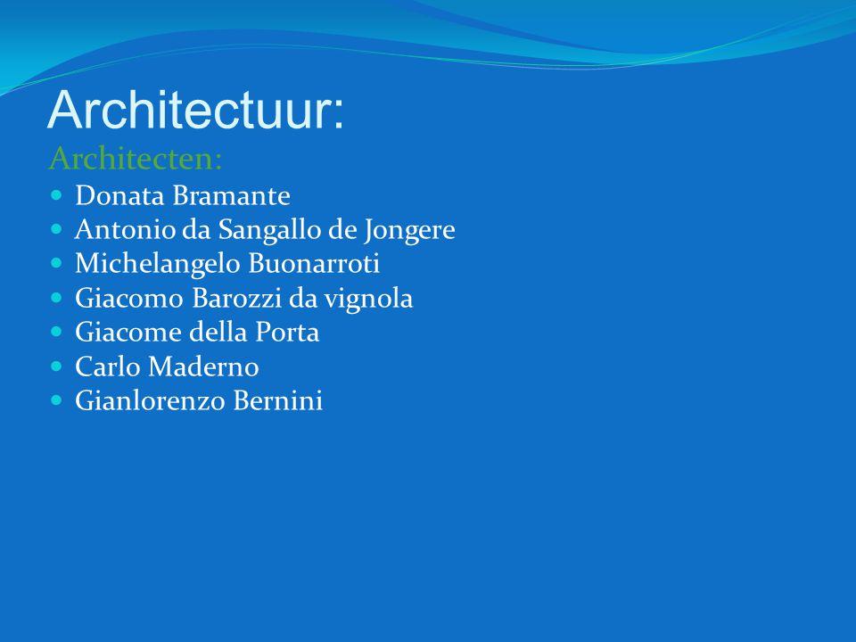 Architectuur: Architecten: Donata Bramante