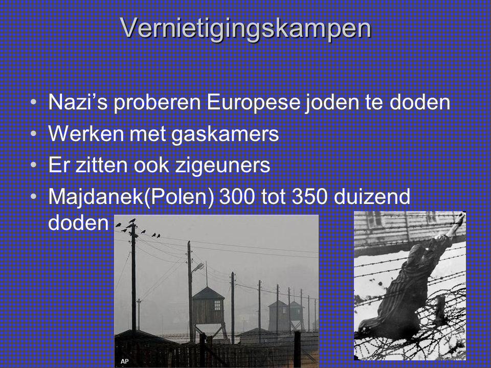Vernietigingskampen Nazi's proberen Europese joden te doden