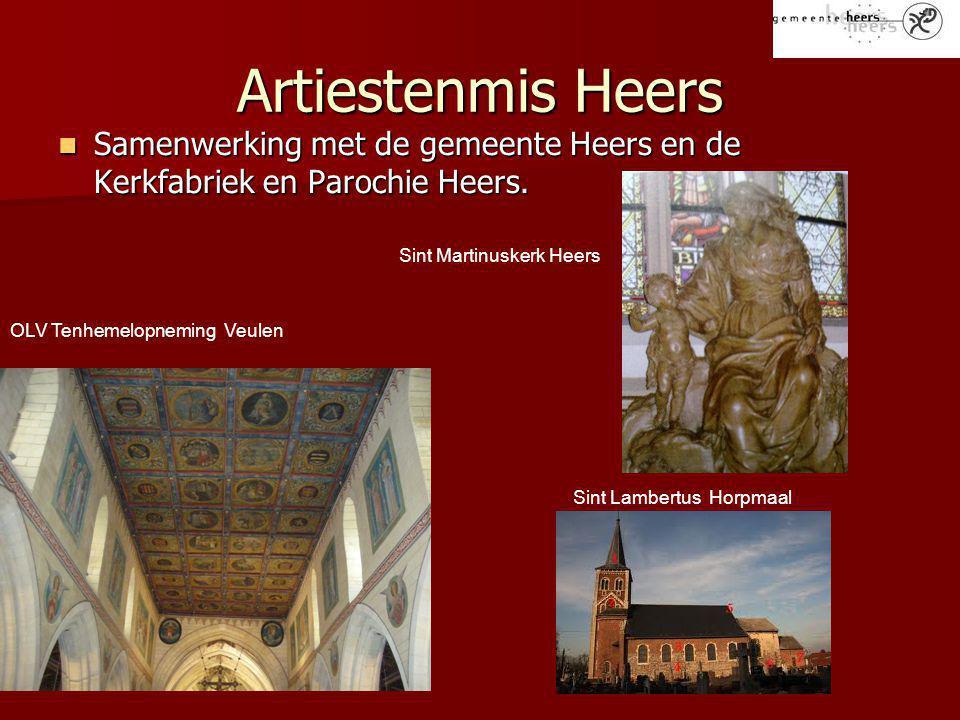 Artiestenmis Heers Samenwerking met de gemeente Heers en de Kerkfabriek en Parochie Heers. Sint Martinuskerk Heers.