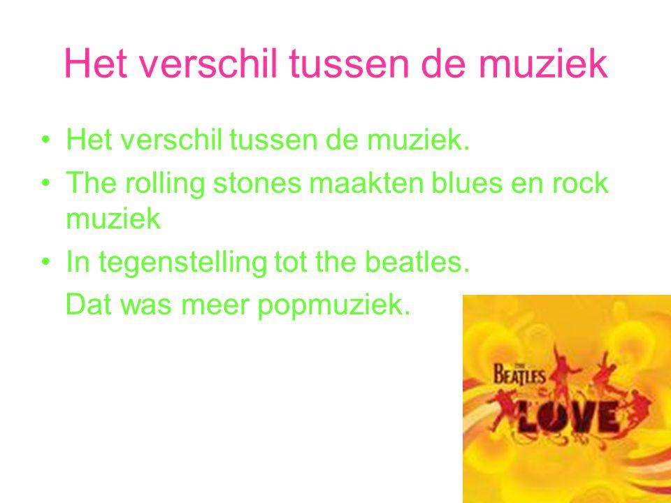 Het verschil tussen de muziek