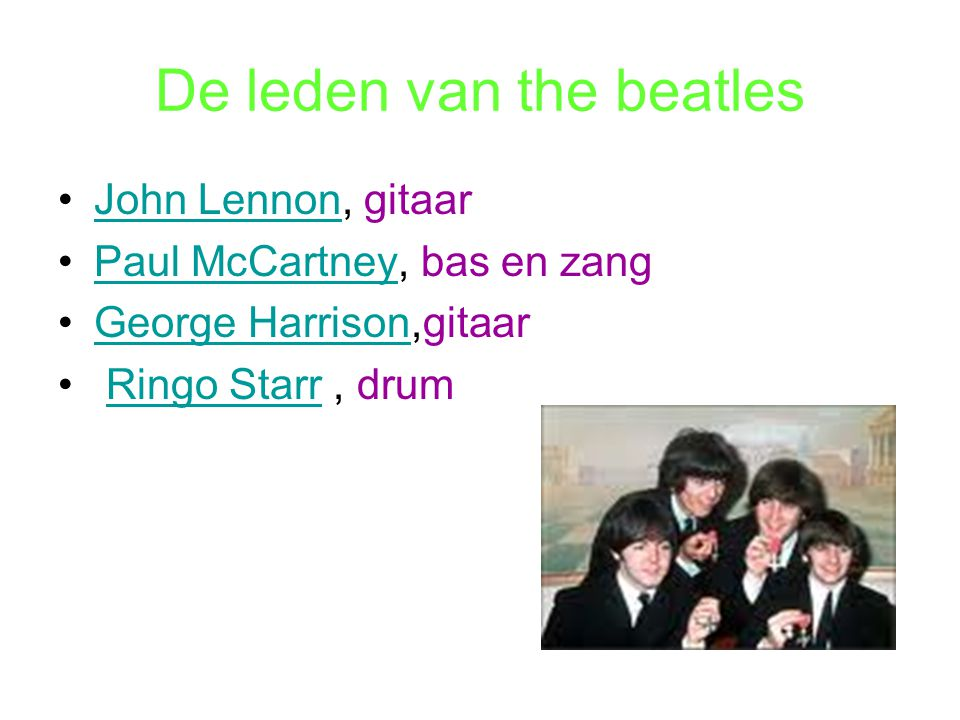 De leden van the beatles