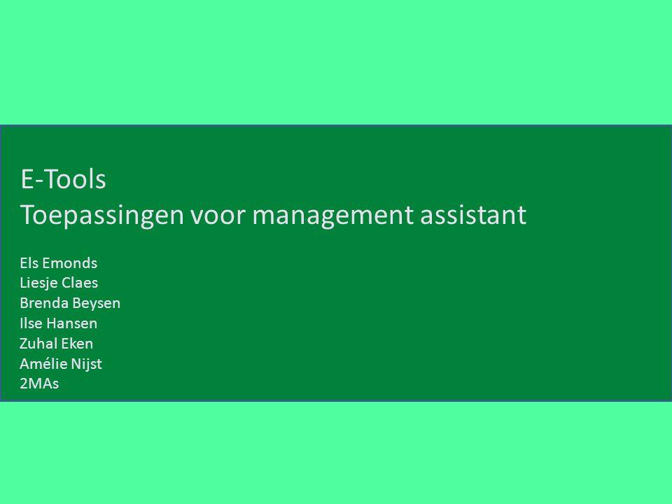 Toepassingen voor management assistant