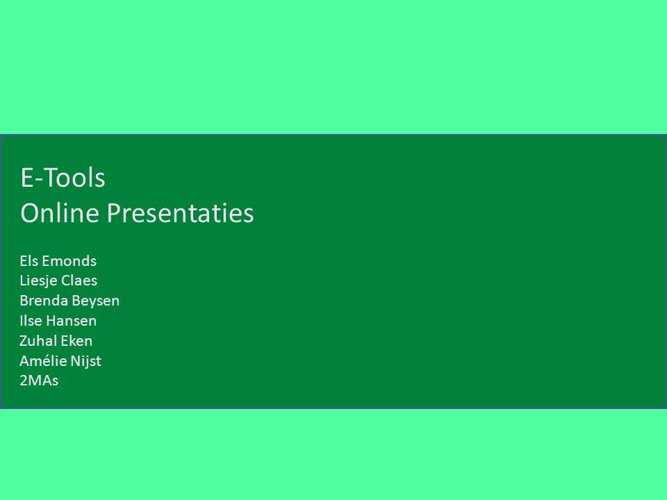 E-Tools Online Presentaties