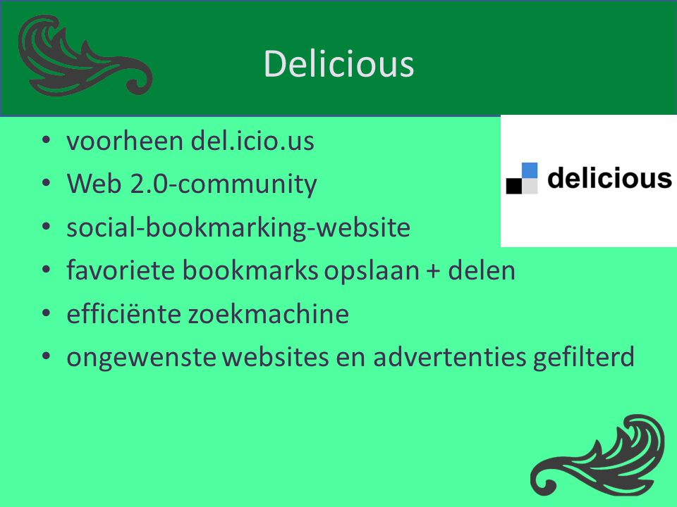 Delicious voorheen del.icio.us Web 2.0-community