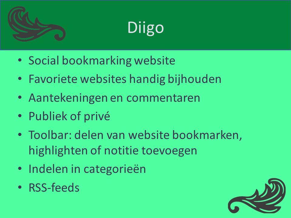 Diigo Social bookmarking website Favoriete websites handig bijhouden