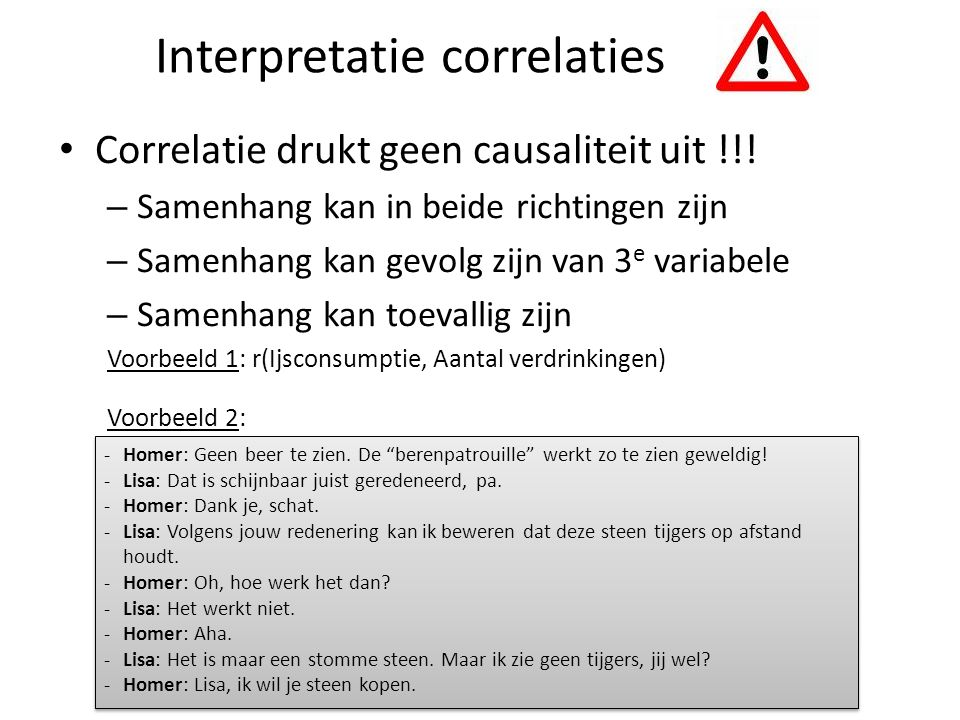 Interpretatie correlaties