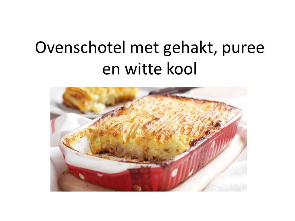 Ovenschotel met gehakt, puree en witte kool