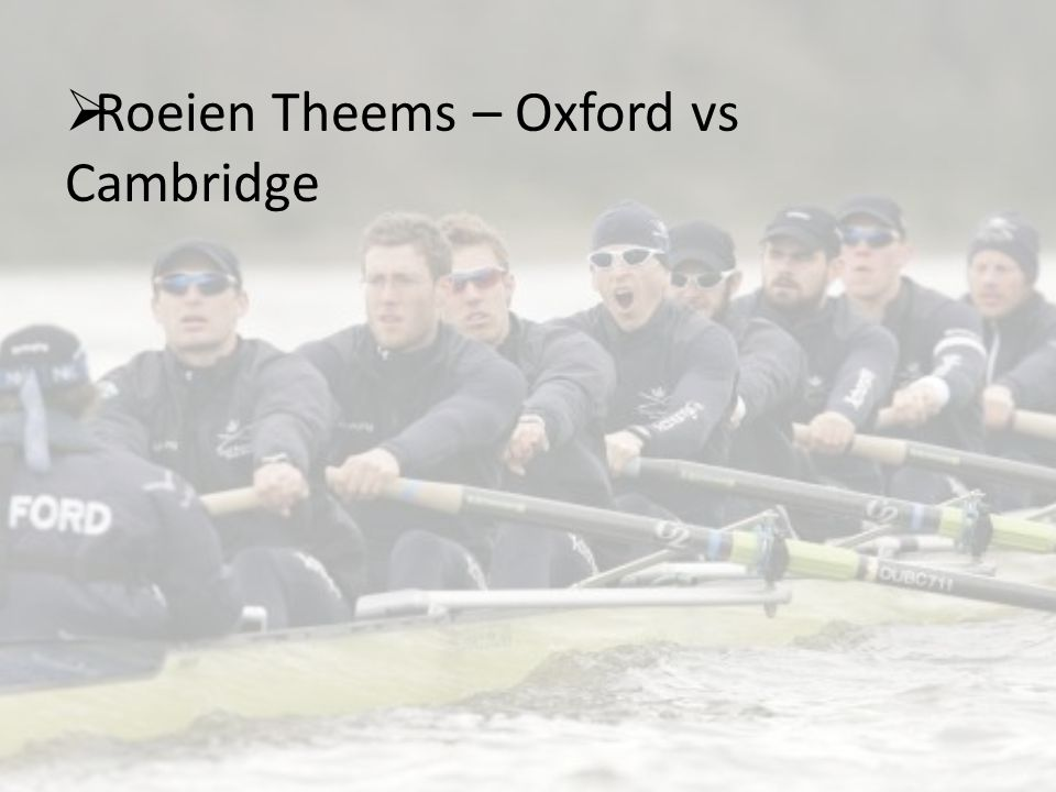 Roeien Theems – Oxford vs Cambridge