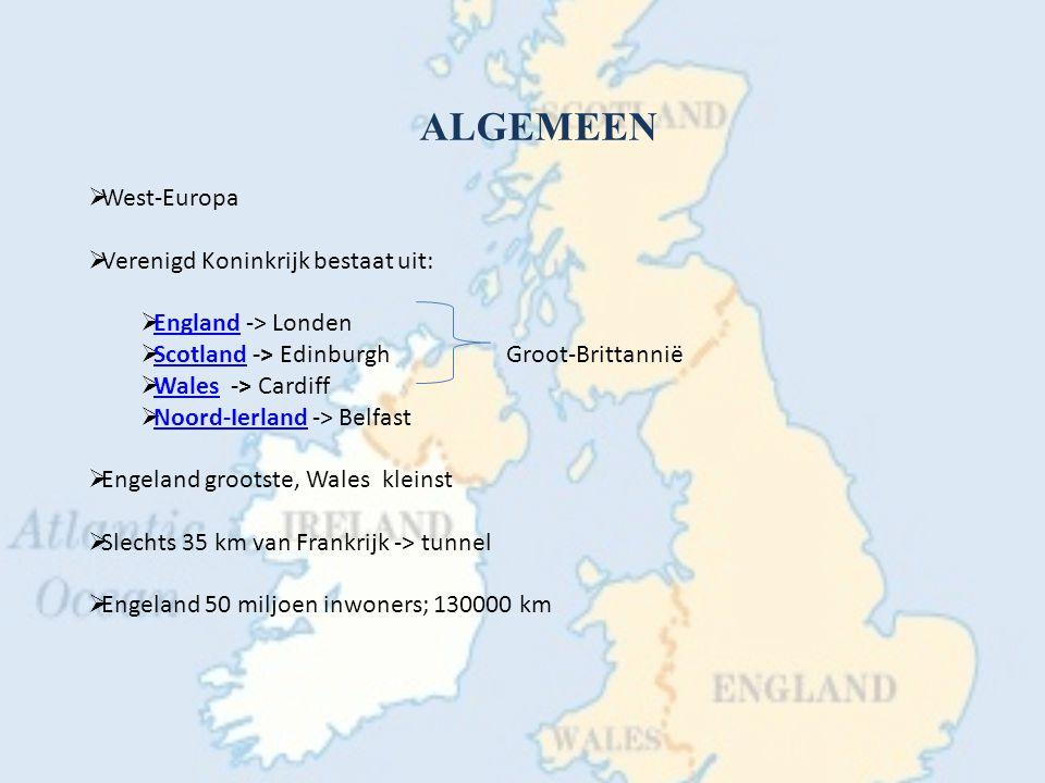 ALGEMEEN West-Europa Verenigd Koninkrijk bestaat uit: