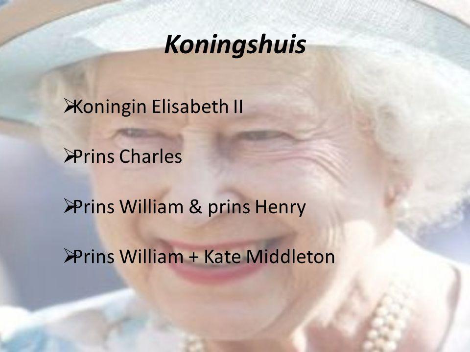 Koningshuis Koningin Elisabeth II Prins Charles