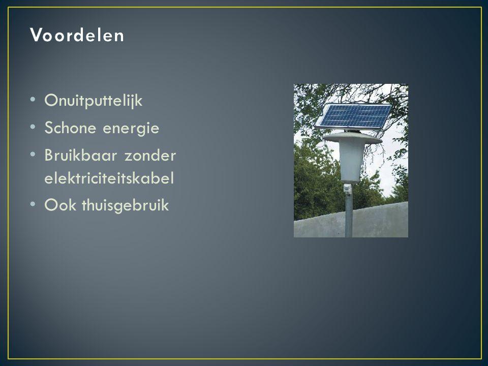 Voordelen Onuitputtelijk Schone energie