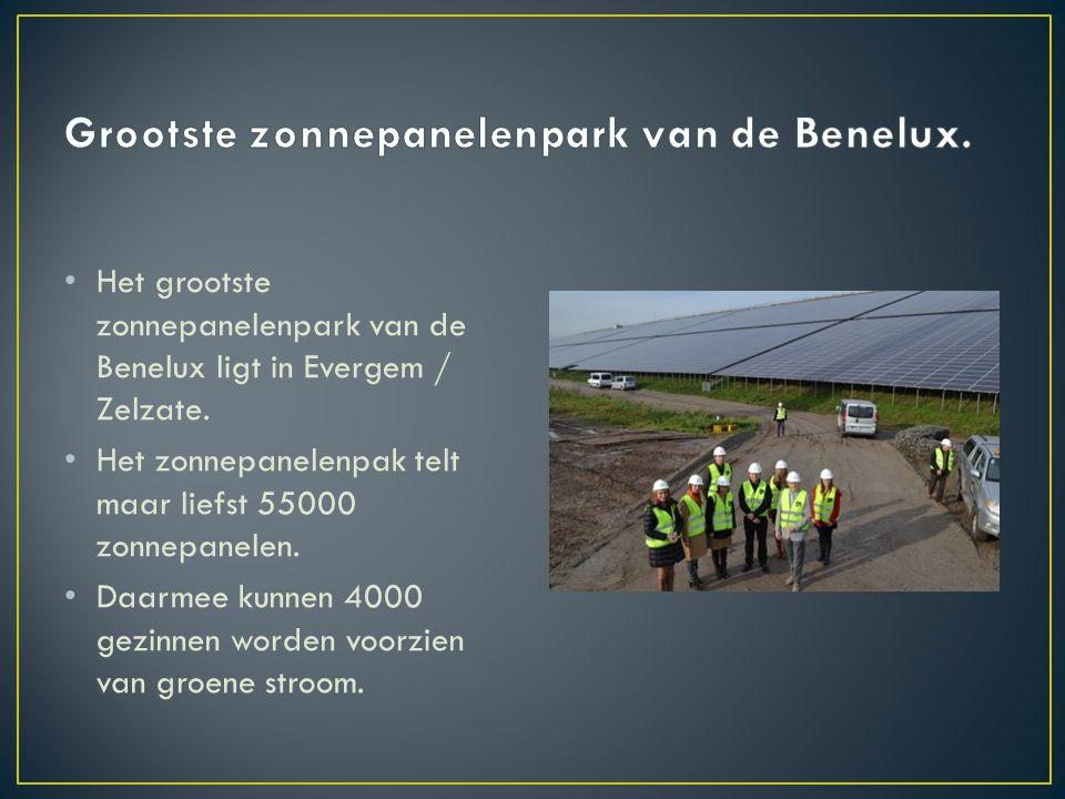 Grootste zonnepanelenpark van de Benelux.