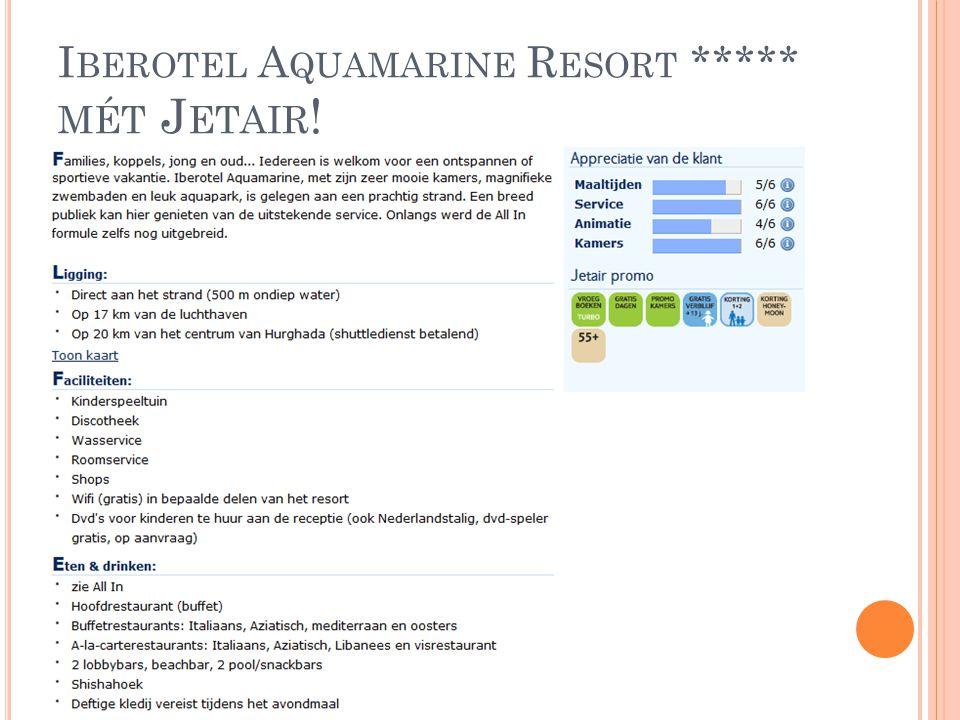 Iberotel Aquamarine Resort ***** mét Jetair!