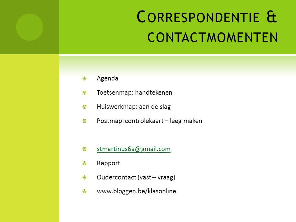 Correspondentie & contactmomenten