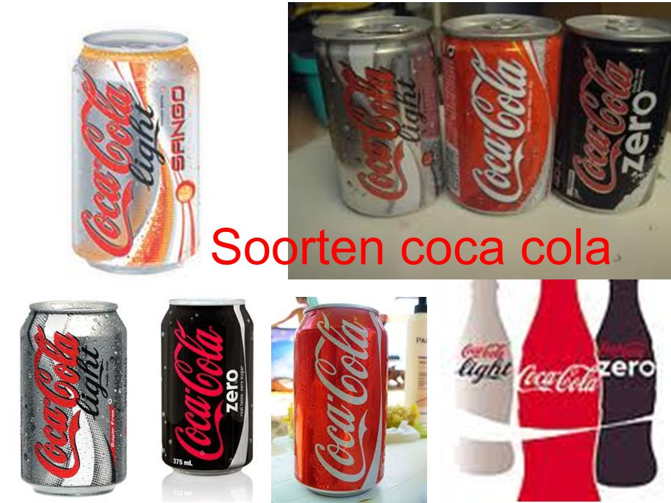 Soorten coca cola
