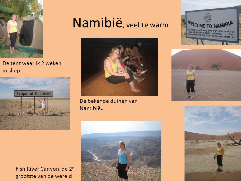 Namibië, veel te warm De tent waar ik 2 weken in sliep