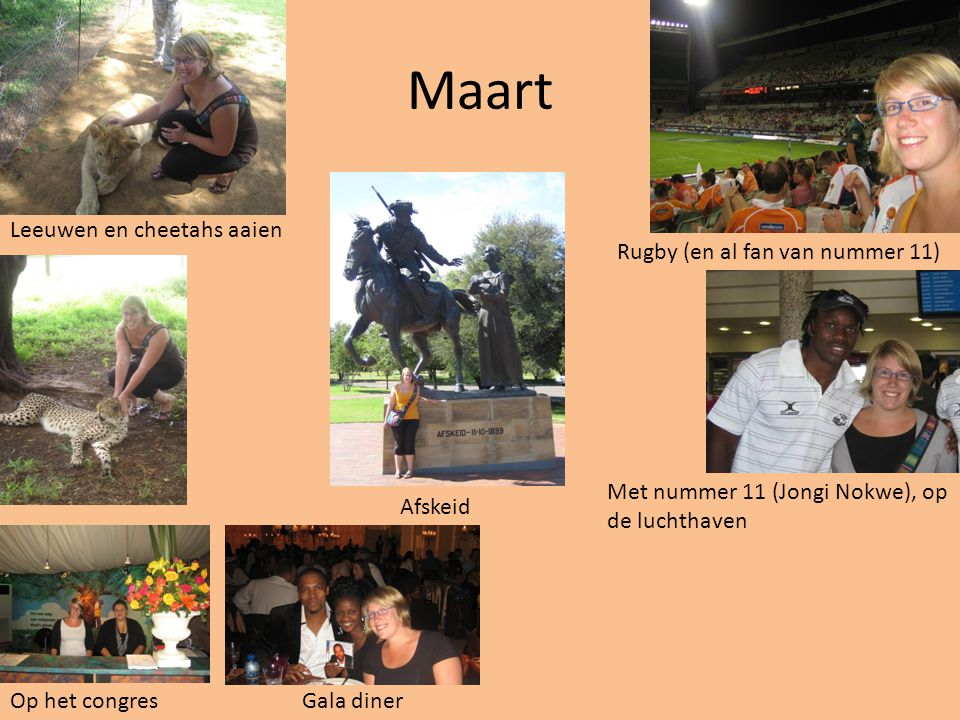 Maart Leeuwen en cheetahs aaien Rugby (en al fan van nummer 11)