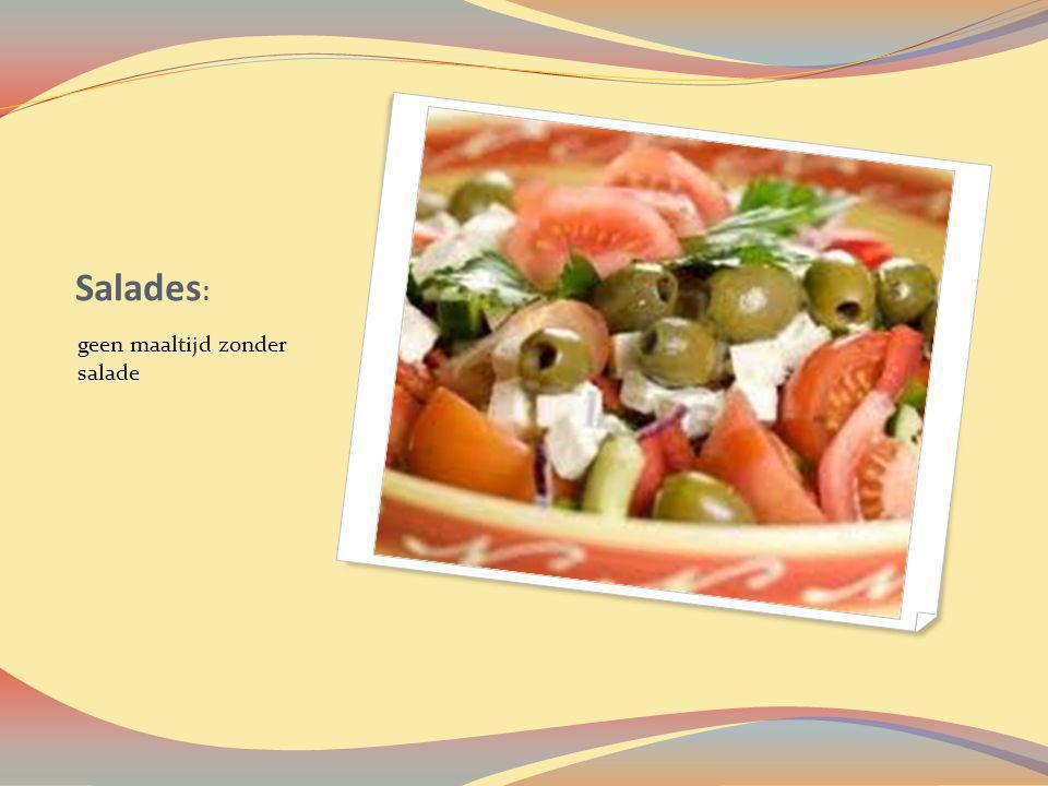 Salades: geen maaltijd zonder salade