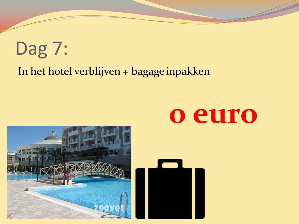 Dag 7: In het hotel verblijven + bagage inpakken 0 euro
