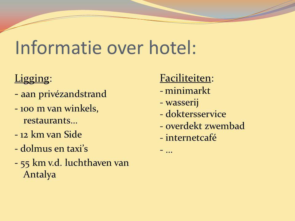Informatie over hotel: