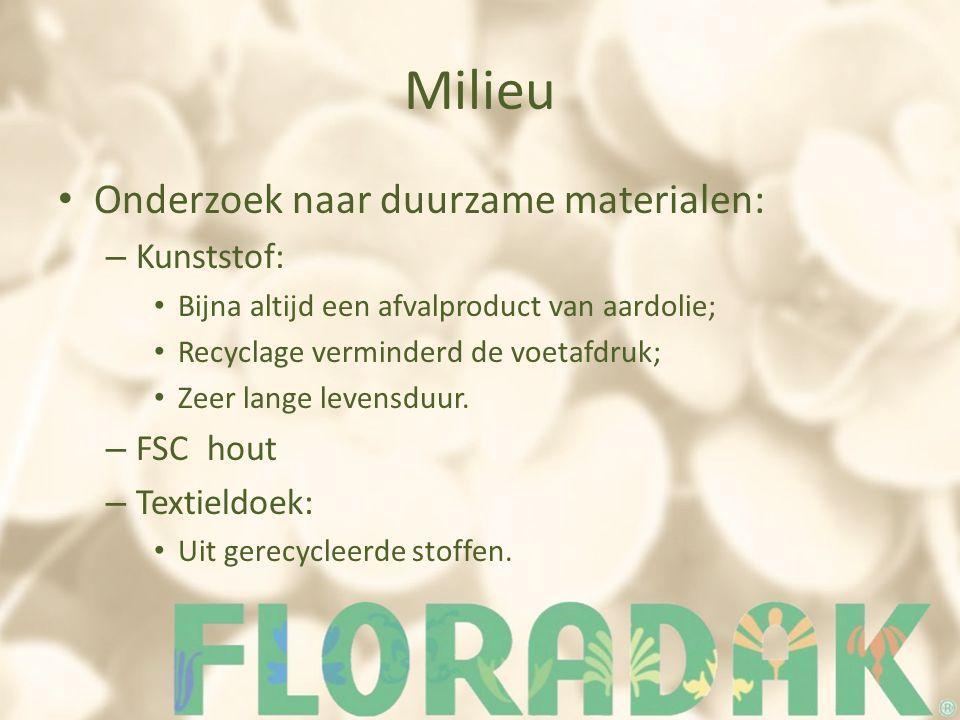 Milieu Onderzoek naar duurzame materialen: Kunststof: FSC hout