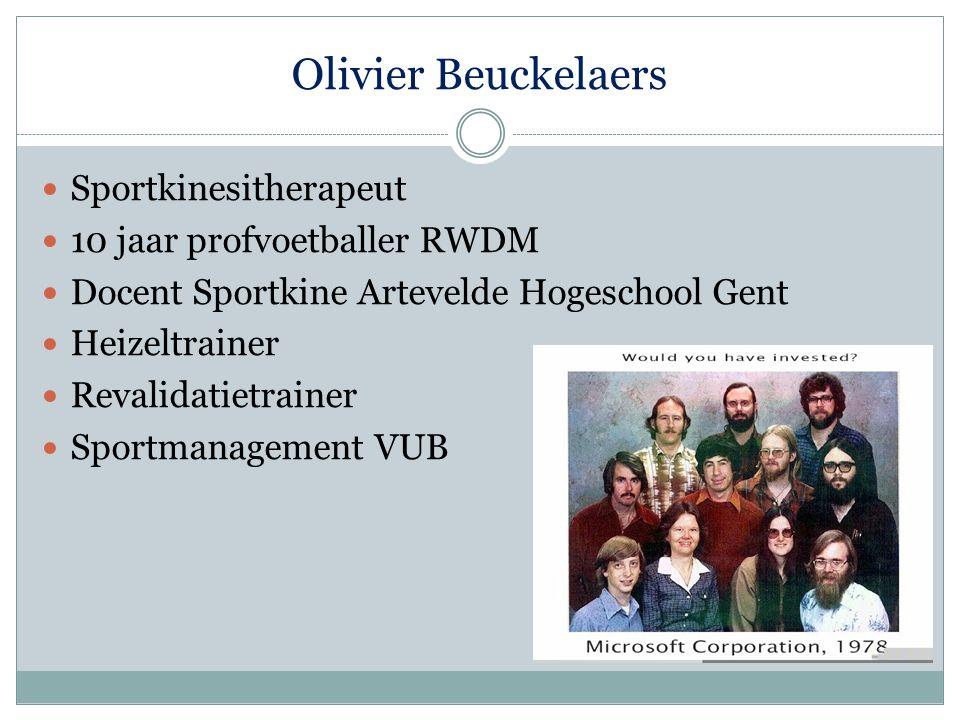 Olivier Beuckelaers Sportkinesitherapeut 10 jaar profvoetballer RWDM