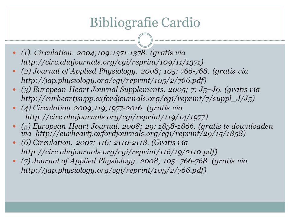 Bibliografie Cardio (1). Circulation. 2004;109:1371-1378. (gratis via
