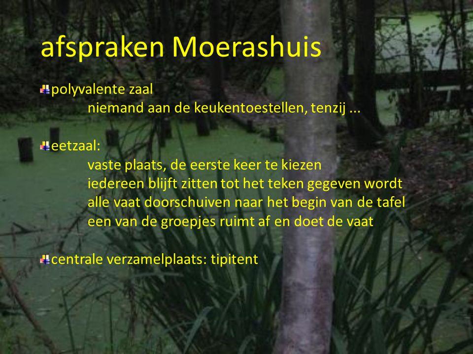 afspraken Moerashuis polyvalente zaal
