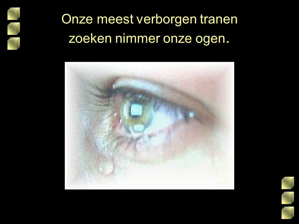 Onze meest verborgen tranen zoeken nimmer onze ogen.