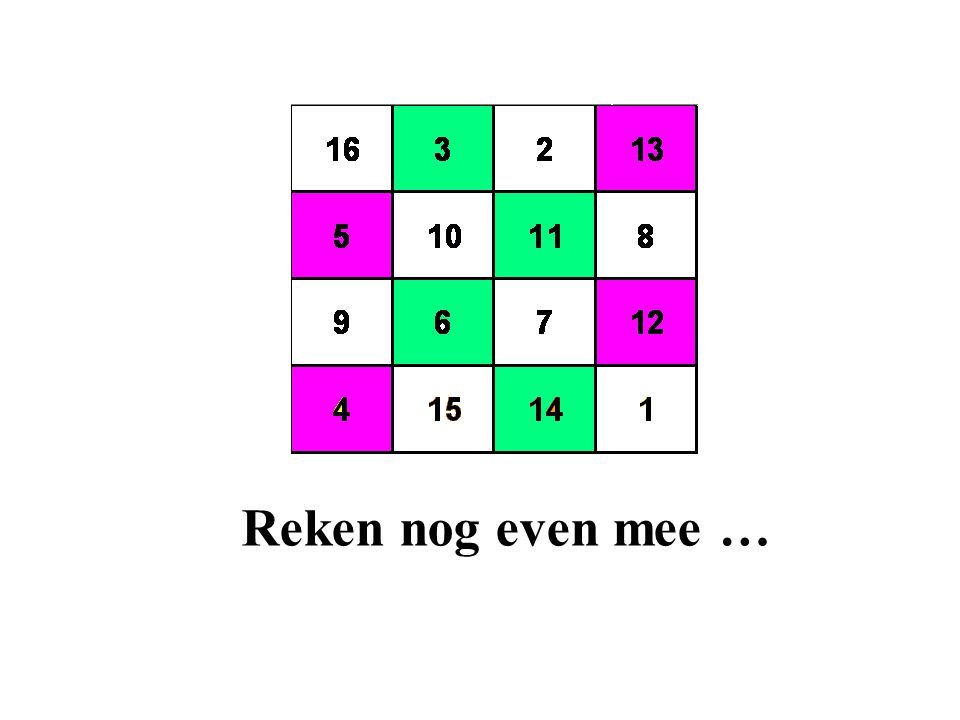 Reken nog even mee …