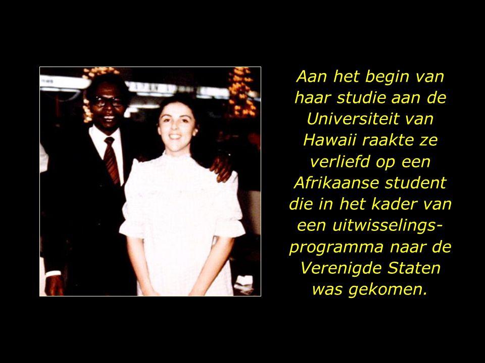 Aan het begin van haar studie aan de Universiteit van Hawaii raakte ze verliefd op een Afrikaanse student die in het kader van een uitwisselings-programma naar de Verenigde Staten was gekomen.
