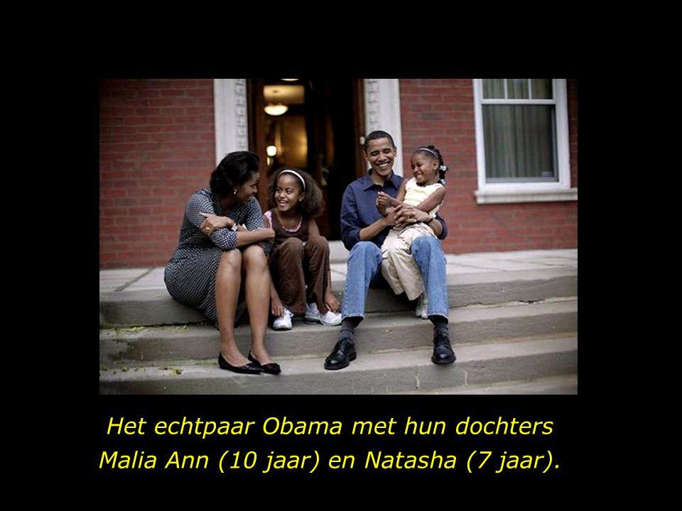 Het echtpaar Obama met hun dochters