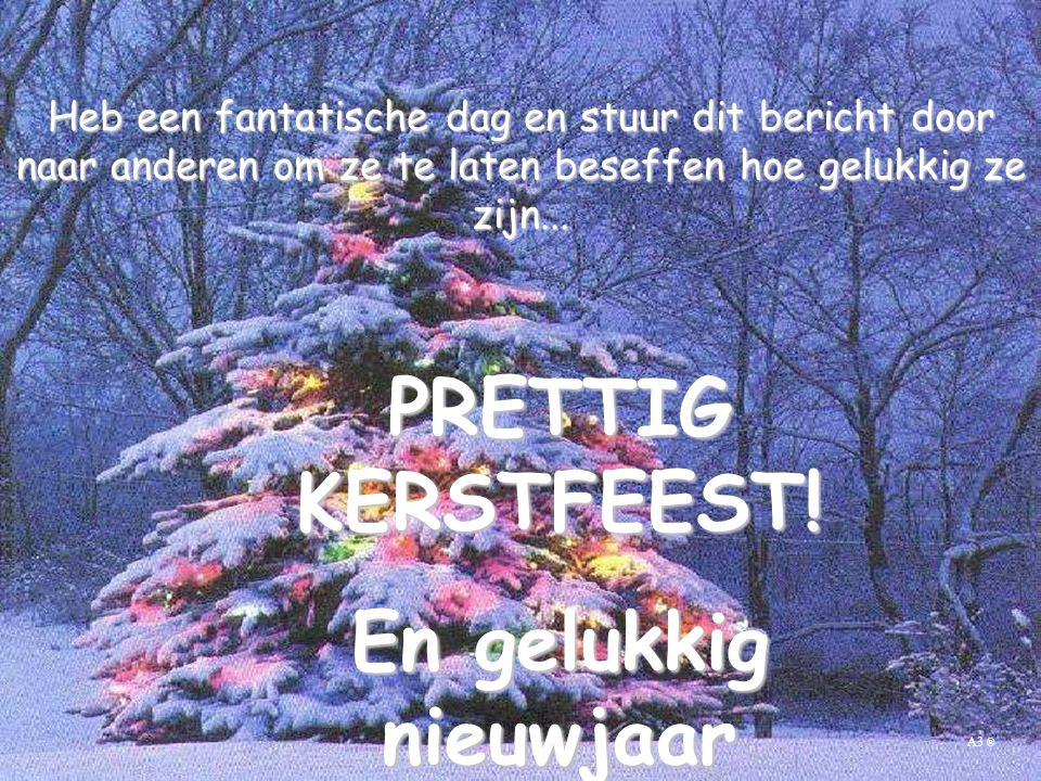 PRETTIG KERSTFEEST! En gelukkig nieuwjaar