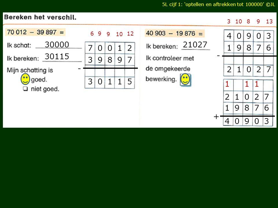 5L cijf 1: 'optellen en aftrekken tot 100000' ©JL