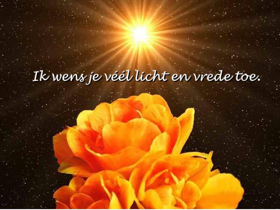 Ik wens je véél licht en vrede toe.