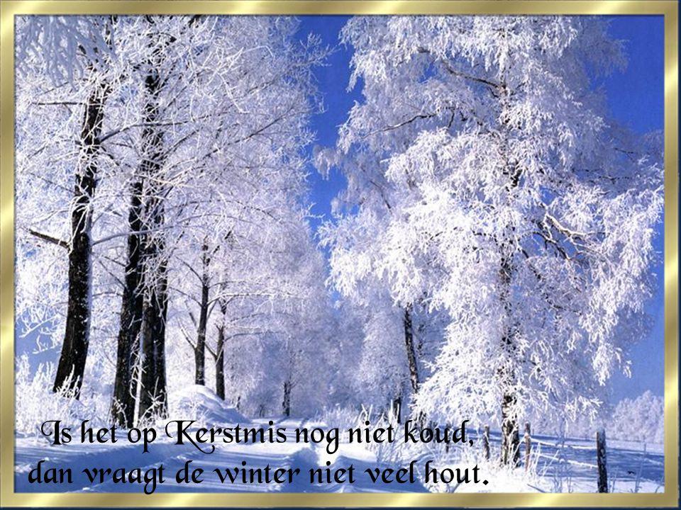 Is het op Kerstmis nog niet koud, dan vraagt de winter niet veel hout.