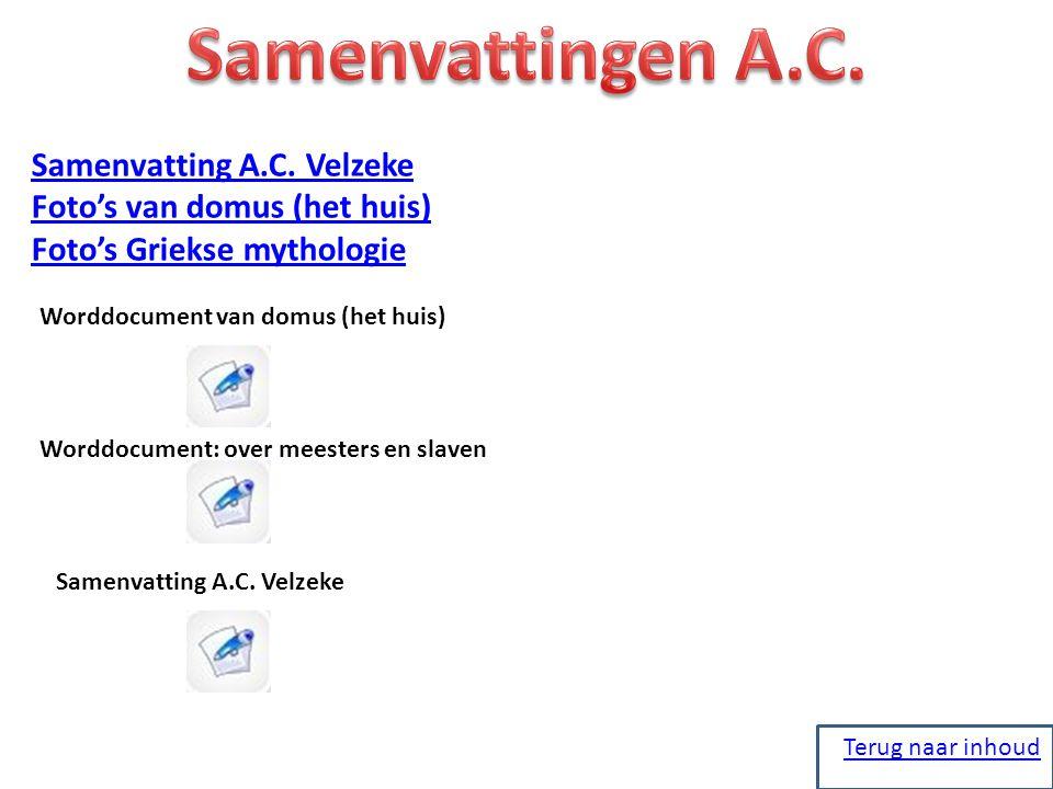Samenvattingen A.C. Samenvatting A.C. Velzeke