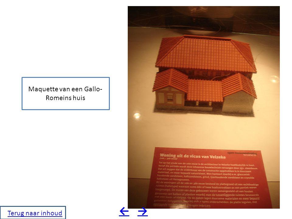 Maquette van een Gallo-Romeins huis