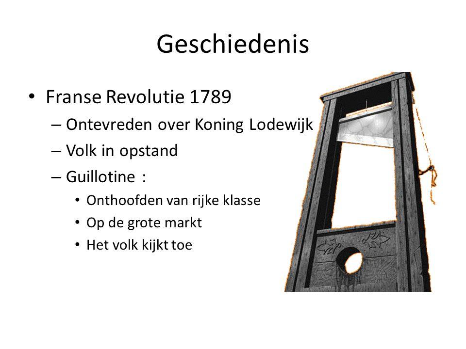 Geschiedenis Franse Revolutie 1789 Ontevreden over Koning Lodewijk