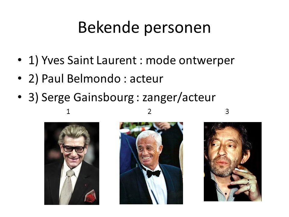 Bekende personen 1) Yves Saint Laurent : mode ontwerper