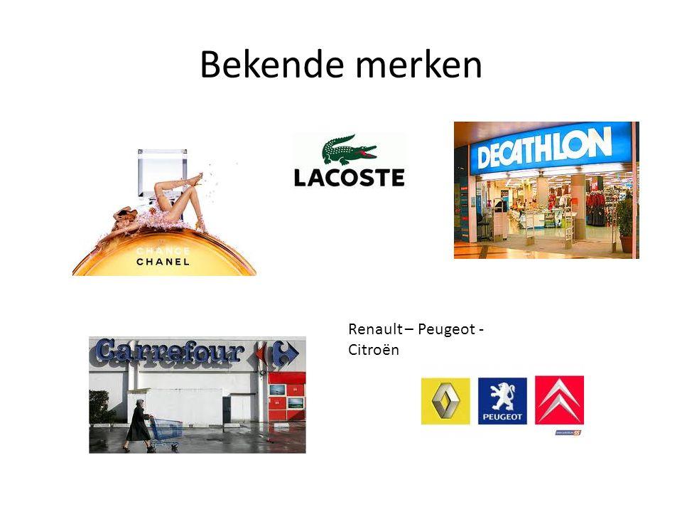 Bekende merken Renault – Peugeot - Citroën