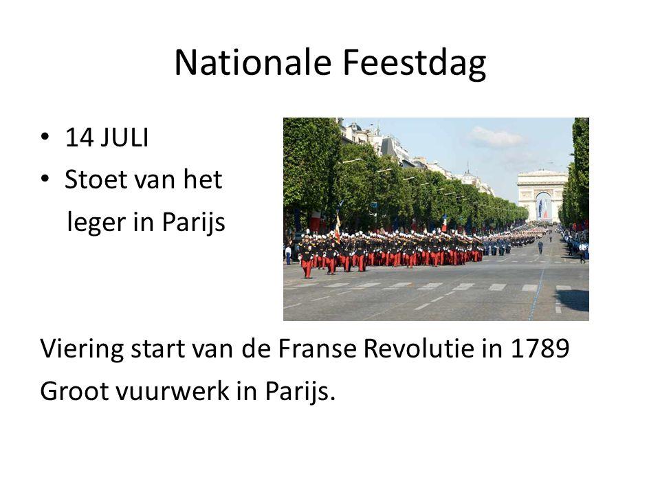 Nationale Feestdag 14 JULI Stoet van het leger in Parijs